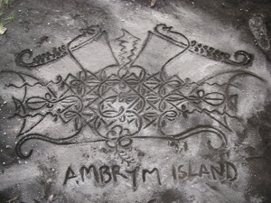 A modern sand drawing