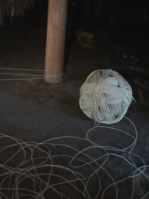 Twine for hammock production made of Buriti leaf fibres