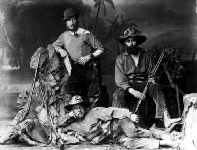 Karl von den Steinen and the German members of the first Xingú expedition 1883