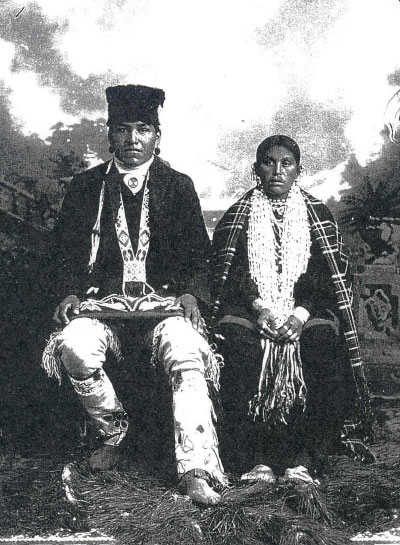 A Hoocąk couple (1920/1930)