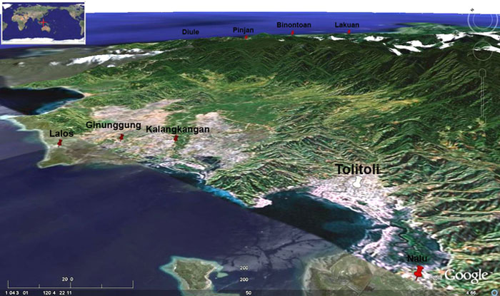 Panoramic view of the Tolitoli area (GoogleEarth)