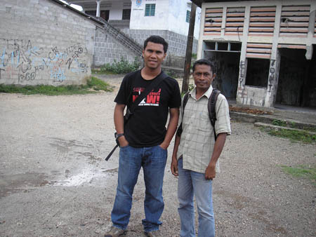 Alex Tilman (left) and Mauricio Belo