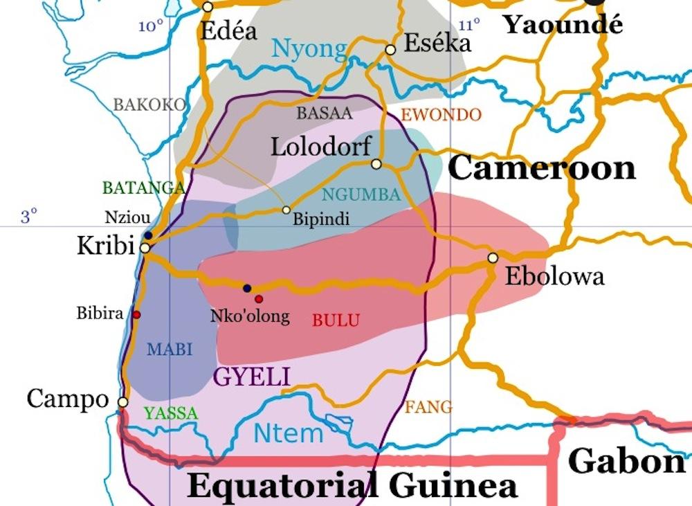 Language DOBES - Cameroon language map